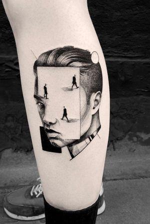 #tattoodesign #tattooflash #tattoodo #tattoos #blackwork #tattooidea #detailed #detail #singleneedle #abstract #modern #contemporary #portrait #blackansgrey #blackwork #dotwork #sharp
