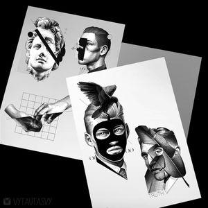 #tattoodesign #tattooflash #tattoodo #tattoos #blackwork #tattooidea #detailed #detail #singleneedle #hands #sculpture #contemporary #portrait #blackansgrey #blackwork #dotwork #available