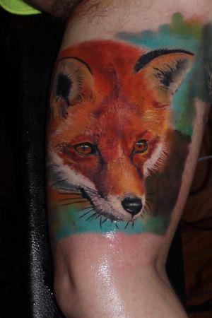 #foxtattoo #colortattoo #nature #realism #ink #tattoooftheday #tattoo #alanramirez