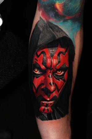 #tattoooftheday #darthmaul #colortattoo #atlantattoo #alanramirez #starwars #ink