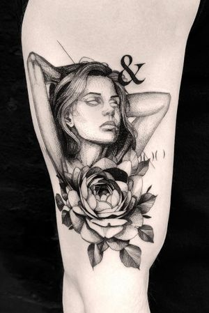 #tattoodesign #tattooflash #tattoodo #tattoos #blackwork #tattooidea #detailed #detail #singleneedle #rose #floral #sculpture #contemporary #portrait #blackansgrey #blackwork #dotwork