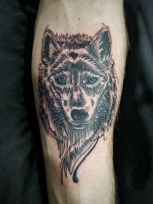 #wolf #sketch #sketchy #linework #blackwork #loup