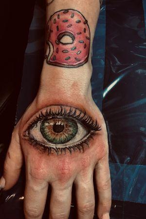 #eyetattoo#realisticink#handtattoo#