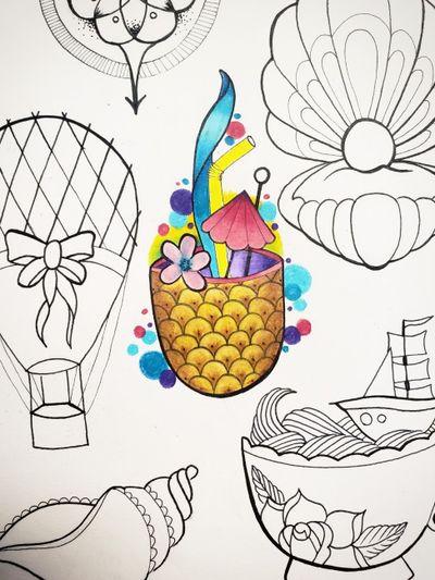 #pineappletattoo #pineapple #pineappledrink