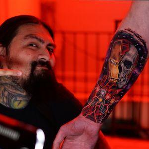 Me and my tattoos 😆🤘 custom iron man piece #rubenbtattoo #rubenbarahona #nyctattooartist