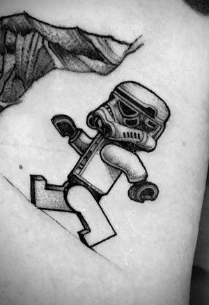 Quick LEGO stormtrooper on Mr Thomas . Thanks bud ! #blxckink  #blackworker #blackwork #blackworknow #blackworkerssubmission #inkstinctsubmission  #tattoofilter #tattoodo #starwarstattoo #inkedmag #inkedmagazine #skinart #skinartmag #inkspiration #inkmagazine #tattooculture #blackworkers_tattoo