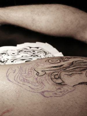 #blackink #blackwork #tattoowork #onitattoo #onidemon #blackart #tattooed
