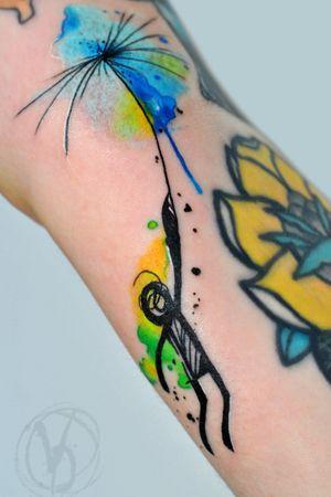 #tattoo #tatt #tattooed #victoriadenske #tattooart #tattooedukraine #kievtattoo #kyivtattoo #ink #inked #tattoodo #wctattoos #bodyart #watercolortattoo #colortattoo #tattoodo #beautiful #instatattoo #linework #inkedup #tattooartist #blacktattoo #sketchtattoo #graphictattoo #watercolortattoo #lines #man #splatter #splashes #dandelion #skydiver