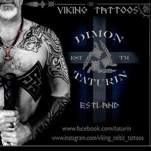 Viking Tattoo by Dimon Taturin . Tallinn.Estonia www.instagram.com/viking_celtic_tattoos