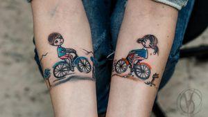 #tattoo #tatt #tattooed #victoriadenske #tattooart #tattooedukraine #kievtattoo #kyivtattoo #ink #inked #tattoodo #wctattoos #bodyart #watercolortattoo #colortattoo #tattoodo #beautiful #instatattoo #linework #inkedup #tattooartist #blacktattoo #sketchtattoo #graphictattoo #watercolortattoo #kids #boy #girl #bicycle #cute #travel