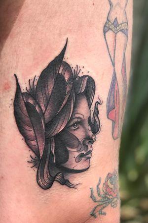 Lady face.  #blackandgrey #portraittattoo #sandiego #legtattoo #tattooartist #sandiegotattooartist #tattooart