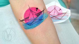 #tattoo #tatt #tattooed #victoriadenske #tattooart #tattooedukraine #kievtattoo #kyivtattoo #ink #inked #tattoodo #wctattoos #bodyart #watercolortattoo #colortattoo #tattoodo #beautiful #instatattoo #linework #inkedup #tattooartist #blacktattoo #sketchtattoo #ship #papership #sea #brushstroke #boat