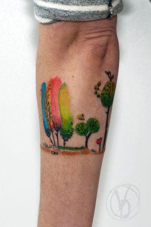 #tattoo #tatt #tattooed #victoriadenske #tattooart #tattooedukraine #kievtattoo #kyivtattoo #ink #inked #tattoodo #wctattoos #bodyart #watercolortattoo #colortattoo #tattoodo #beautiful #instatattoo #linework #inkedup #tattooartist #blacktattoo #sketchtattoo #graphictattoo #watercolortattoo #trees #cute #cartoon #kids