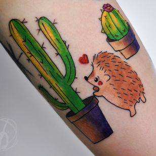 Hedgehog tattoo by Victoria Denske #victoriadenske #tattoo #tatt #tattooed #victoriadenske #tattooart #tattooedukraine #kievtattoo #kyivtattoo #ink #inked #tattoodo #wctattoos #bodyart #watercolortattoo #colortattoo #tattoodo #beautiful #instatattoo #line