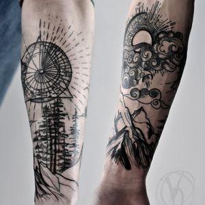 #tattoo #tatt #tattooed #victoriadenske #tattooart #tattooedukraine #kievtattoo #kyivtattoo #ink #inked #tattoodo #wctattoos #bodyart #watercolortattoo #colortattoo #tattoodo #beautiful #instatattoo #linework #inkedup #tattooartist #blacktattoo #sketchtattoo #graphictattoo #watercolortattoo #lines #mountains #forest #graphic #sun #clouds