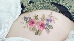 #ribtattoo #rib #flower #floral #colortattoo #flowertattoo #floraltattoo #tattooistsilo #silotattoo #seoultattoo #koreatattoo