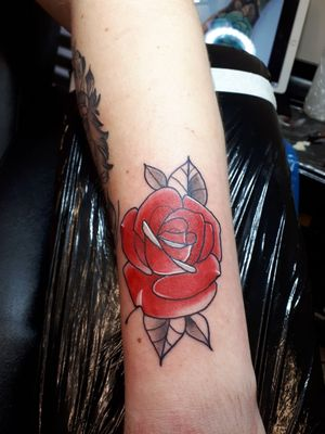 Neo traditional rose done £100