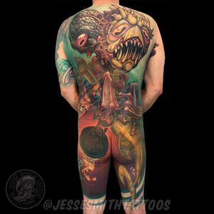 Angler King of the South tattooed by myself and Jason Stephan