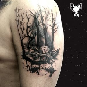 Freehand dark forest