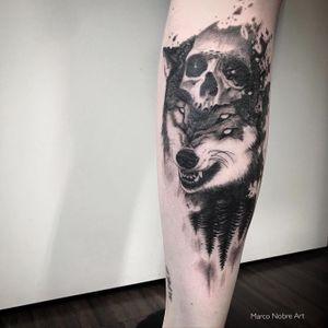 3 eyes Wolf #realistic #trashpolka #bng #tattoo #tattoorralistic #surrelistic #blackandgrey #swedentattoo #algarvetattoo #portugaltattoo #marconobretattoo #marconobre #marconobreart #tattooartist #tattooartistmagazine #bnginksociety #forestxwolf #forestwolf
