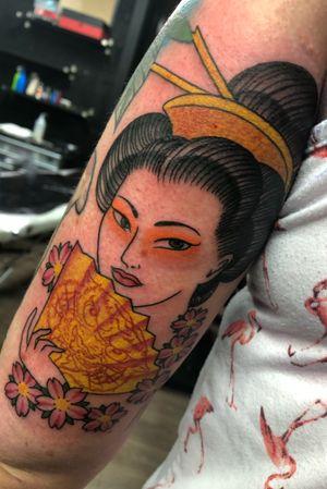 #geisha #geishatattoo #geishagirl #geishamakeup #geishatattoos #cherryblossomtattoo #cherryblossom #japanesetattoo #japanesegirl #traditionaljapanesetattoo #irezumi #irezumitattoo #dublin #dublintattoo #dubointattoostudio #dublintattooartist