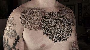 Mandala chest piece