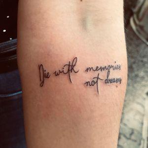 Tattoo#quote #memories #dreamtatto #inkedgirl #tattoomag #tattooartist #Nenad#Tattoodo