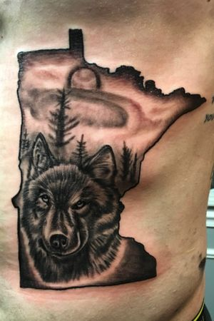 Dope wolf tattoo I had the pleasure of doing.