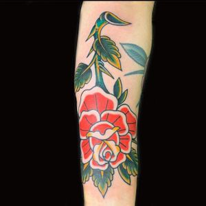 Rose  #rosetattoo #traditionaltattoo #traditionalrose #nyc #nytattoo #nytattooartist