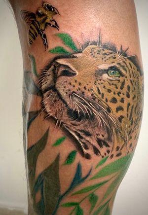 Leopard tattoo. #leopard #inklovers #cartagena