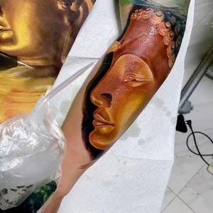 Buddha done in 1 session #intenzepride #tattoounity #miamitattoos #instapic #instatattoo #tattooedgirls #tattooartist # tattoogirl #realistictattoo #tattooideas #artwork #fullcolortattoo #colortattoo #miamitattoos #305tattoos #floridatattoos #coralsprings #coralspringstattoo #budhatattoo