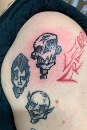 zombie scratchystyle grafish blackwork