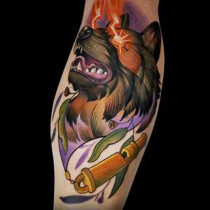 #dogportrait #dogtattoo #pettattoo #germanshepherd