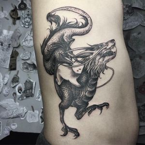 #dragon #dragontattoo #blackandgrey #blackwork #blacktattoo #black #grey #whiteink #rabbit #rabbittattoo #riptattoo #sidetattoo #side #melbourne #melbournetattoo #melbournetattooist #melbournetattooer #oriental #orientaltattoo