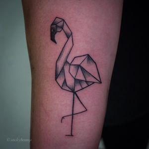 Geometric Flamingo piece