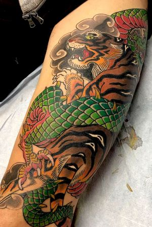 Tiger and dragon thigh.