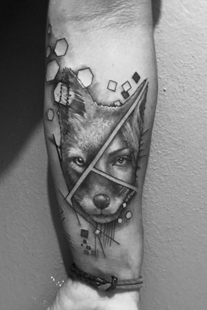 Black and white tattoo / about 6 hours .. / #design #tattoodesign #tattoodesigner #woman #womantattoo #womanportrait #animal #animals #animaltattoo