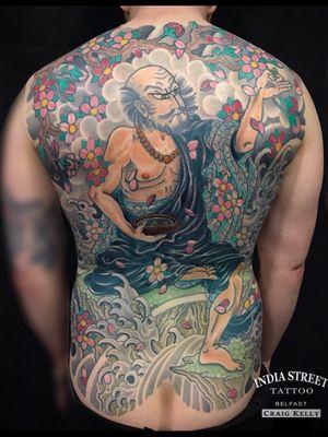 Shennong inspired backpiece by Craig Kelly at India Street Tattoo - Belfast. www.indiastreettattoo.com
