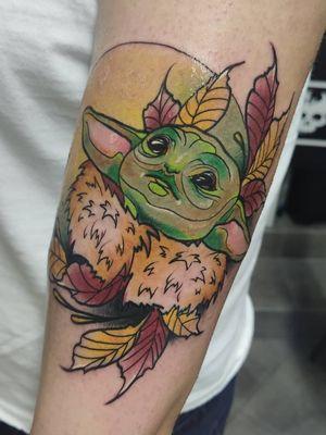 Baby Yoda by me 🔥 #tondriktattoo #ucernekotvy #savethetattooquality #tattoodo #starwars #babyyoda #yoda #starwarstattoos
