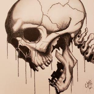 Weeping skull