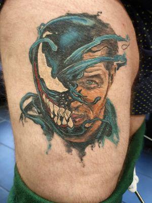 Venom colour realistic mixed with graphic