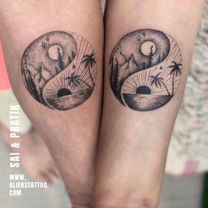 Couple Tattoo By Sai And Pratik At Aliens Tattoo India.