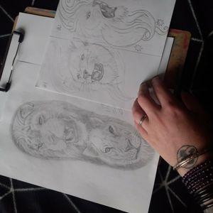 Lion designs #lions #christchurch #nz #tattoodesign #tattooart
