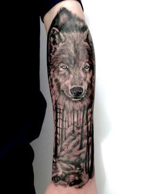#black&gray #wolf #tattoowolf