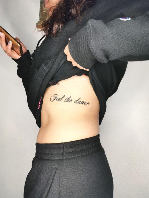Feel the dance 💃 #typetopia #typedrawn #letteringsoul #typematters #goodtype #letteringco #letteringart #letteringlove #typesmash #fontswelove #tattoolettering #letteringtattoo #inktattoo #ink #inked #tattoo #tattooart #tattoofont #cs