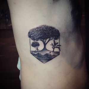 Fine line tree tattoo - Tattoo Chiang Mai #Tattoodo #tree #geometric #fineline #blackwork #blackworkers #blackworktattoo #linework #btattooing #inked #ChiangMai #tattoochiangmai #tattooist #tattoolife #tatouage #tattoooftheday #tattooartistchiangmai