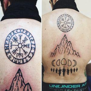 #vikingcompass #mountaintattoo #backpiece #myinkprints2020