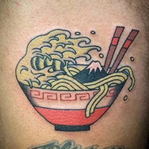 Big Wave Ramen 🌊🍜 ビッグウェーブラーメン🌊🍜 Thank you for coming from USA🇺🇸✨ See you next time!💪 . . . . .#irezumi #art #oldschooltattoo #traditionaltattoo #classictattoo #japanesestyle #japanesetattoo #tatouage #tokyotattoo #tattootokyo #kawaiitattoo #ramen #ramentattoo #osakabe #taiwan #hongkong #skanstull #oaklandtattoo #tokyo #japan #shimokitazawa #タトゥー #刺青 #アート #ラーメン #波 #台北 #香港 #下北沢 #東京 #日本?