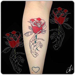 💉🌹 #Linework#Shading#Instaart#TattooDesigns#Colour #Skeleton #Hand #Rose #Cute #Tattoos #Beautiful #Ink #TattooLife #InstaTattoos #TattooArt #LondonTattoos #Inked #TattooedGirls #InkArt #GirlsWithTattoos #Inkstagram #Follow #DailyArt #CheyanneHawk #Flash #InstaGood #Art #Artist #ArtLovers #Tattooist