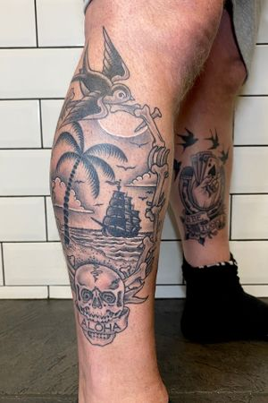 Healed tattoos by Ant Dickinson